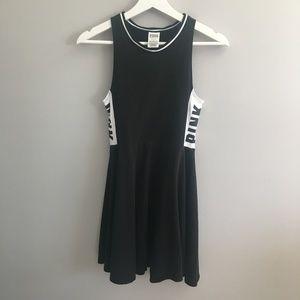 PINK Black and White Skater Dress #371